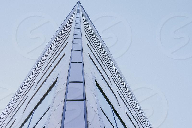Modern glass building in downtown Portland USA. photo