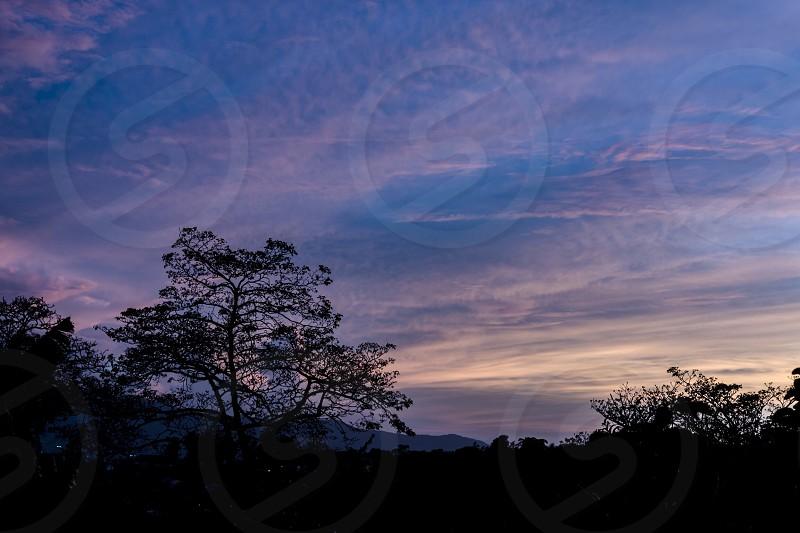 sunset landscape silhoutte costa-rica  photo