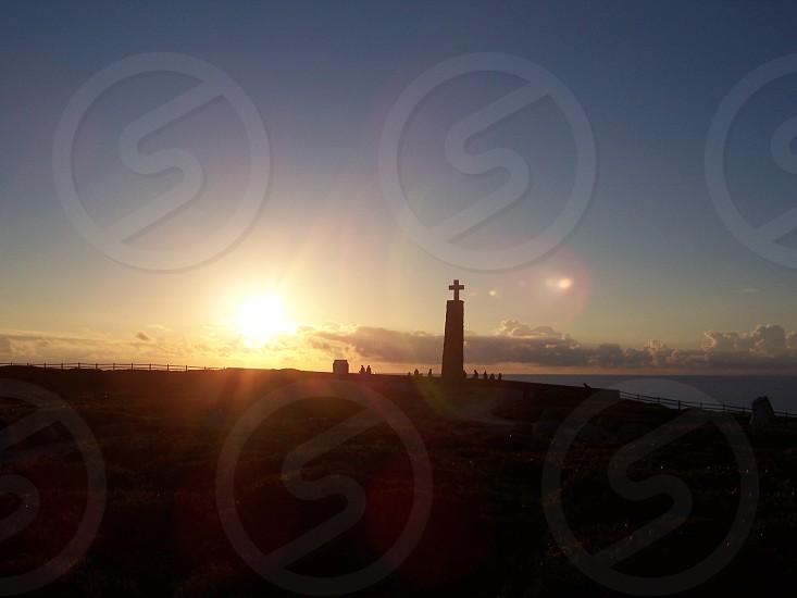 Twilight at Cabo da Roca (Portugal). photo