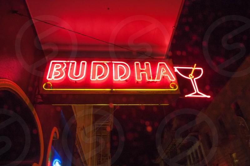 Buddha Bar sign in Chinatown SF. photo