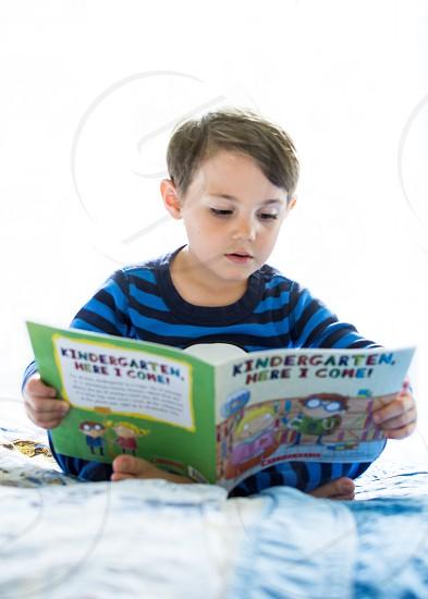 Kindergarten book reading photo