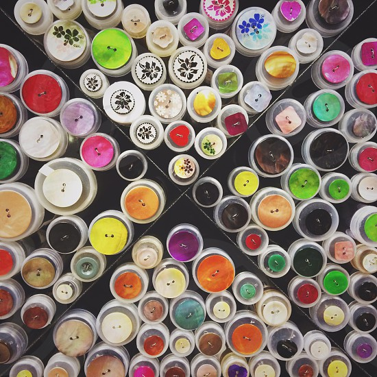 multicolored clothes buttons photo