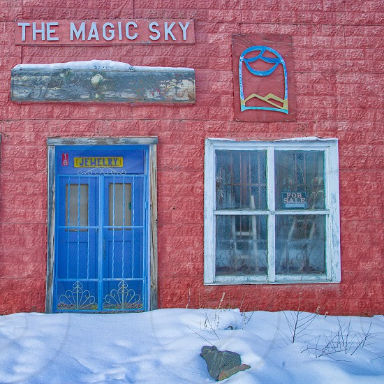 Old store front in Taos New Mexico photo