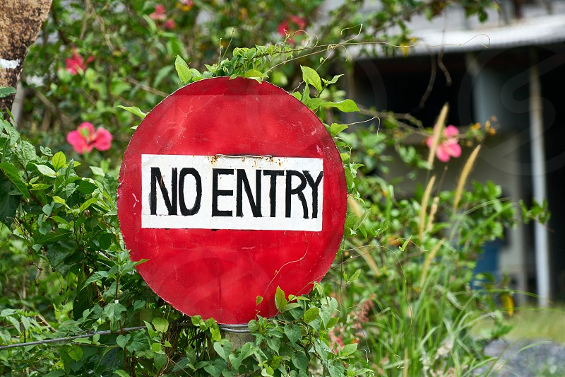 Sign No entry Private Property photo
