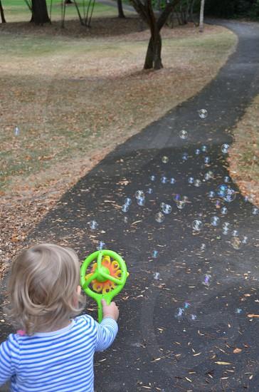 Child toy bubbles park photo