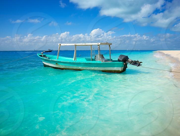 Isla Mujeres island Caribbean beach of Riviera Maya in Mexico photo