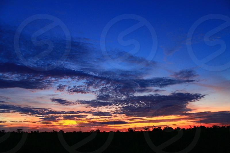 Bolivia sunset clouds sun dusk photo
