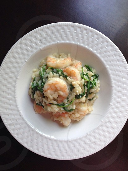 Shrimp with Arugula Risotto photo