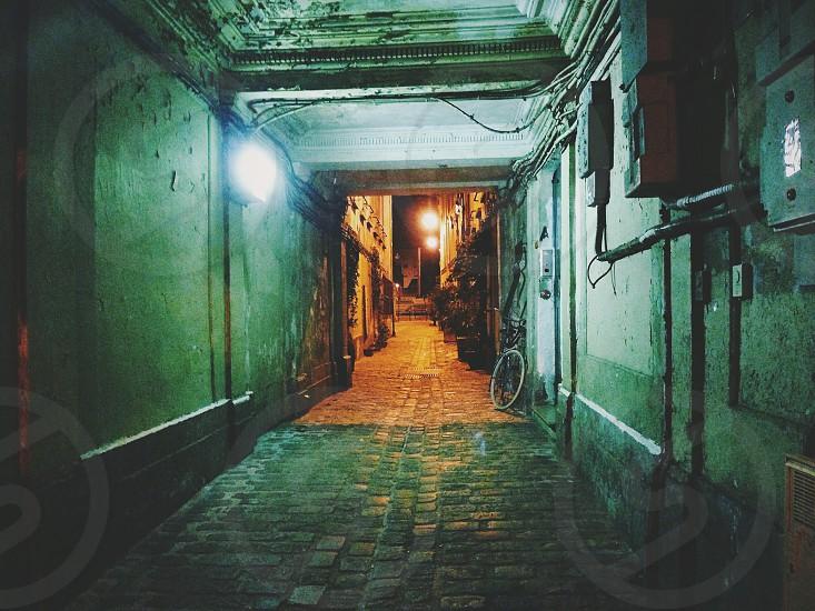 Paris secret streets by night... photo