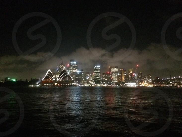 Sydney City at night photo