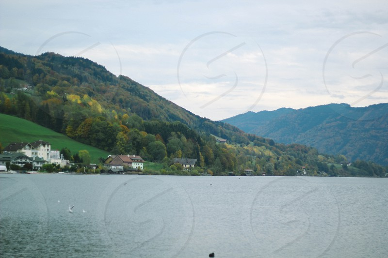 Beautiful Houses in Mondsee Austria photo