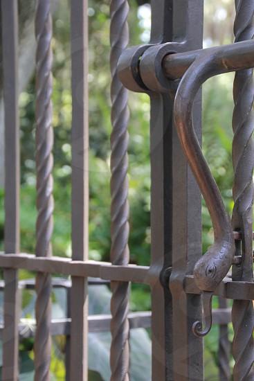 Snake gate handle photo