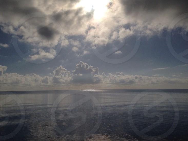 The ocean in Belize photo