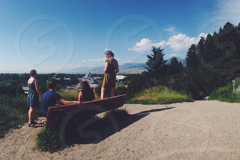 Bench in Bozeman MT photo