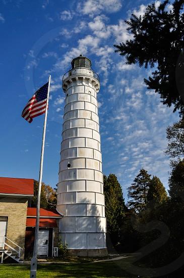 Cana Island lighthouse Door County WI steel cladding 1870  photo