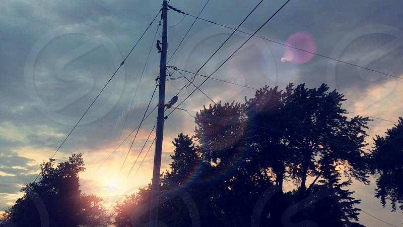 Green Bay Sky Wisconsin sunset beauty trees sun North America beautiful photo