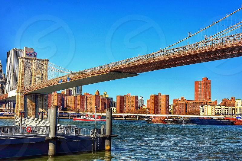 Brooklyn BridgeManhattanNew YorkHudson river photo