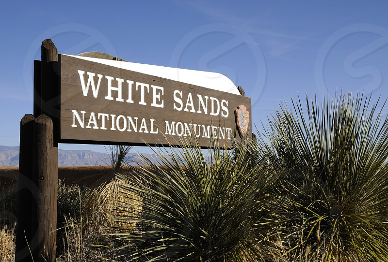 White Sands National Monument New Mexico sign photo