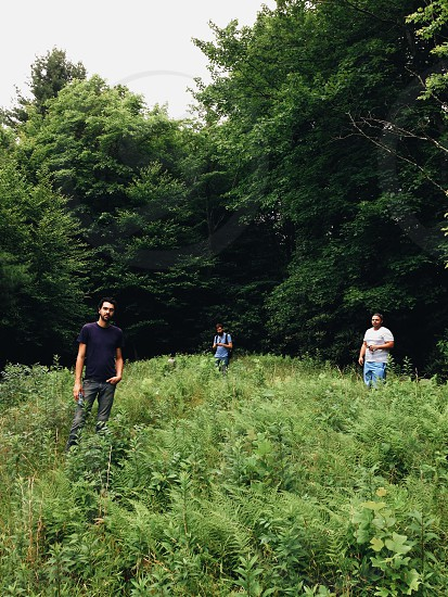 Friends in the woods.  Also band photo. photo