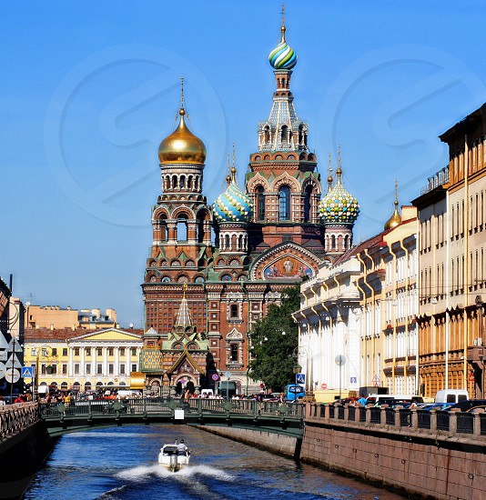 Church of Our Savior on the Spilled Blood St. Petersburg. photo