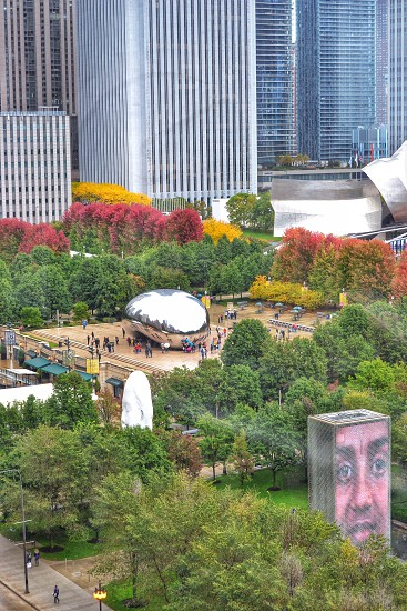 Millennium Park from above  photo