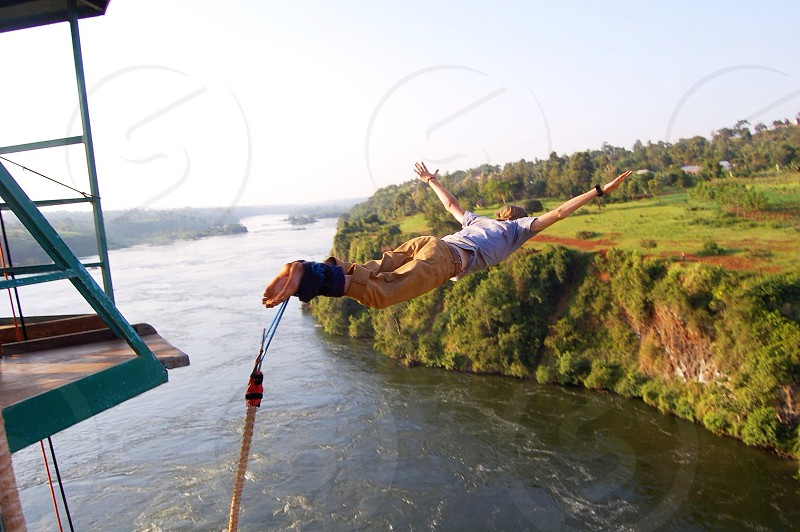 Ever bungee jump over the River Nile? photo