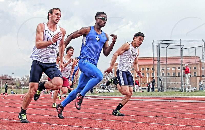 Track meet - 100 meter dash photo
