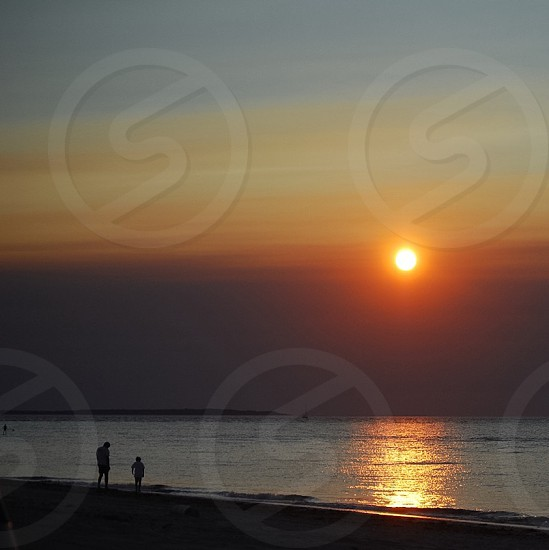 Sunset in Montauk - Beach silhouette photo