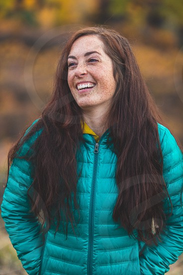 Fall freckles long hair brown hair red hair outdoors Colorado naturallaugh autumn photo