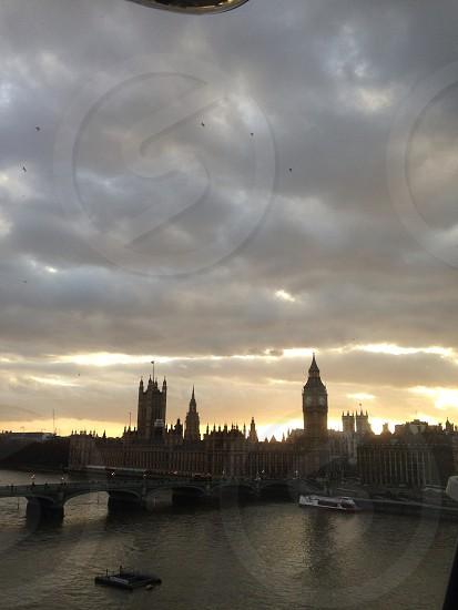 London at dusk  photo