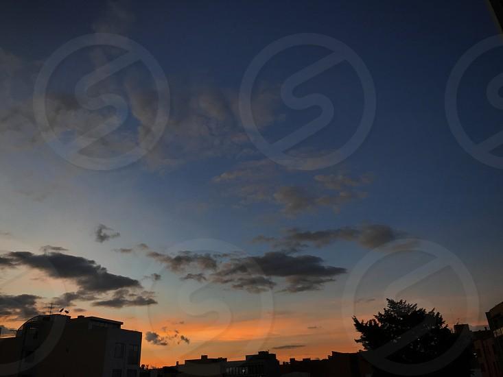 Sunset in Bogotá City  photo