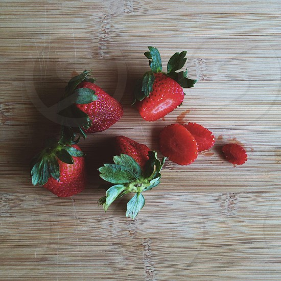 Cooking with strawberries  photo