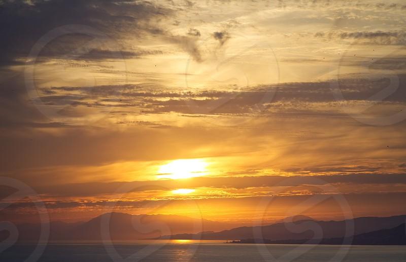 Sunset in La Herradura Granada province Andalusia Spain photo