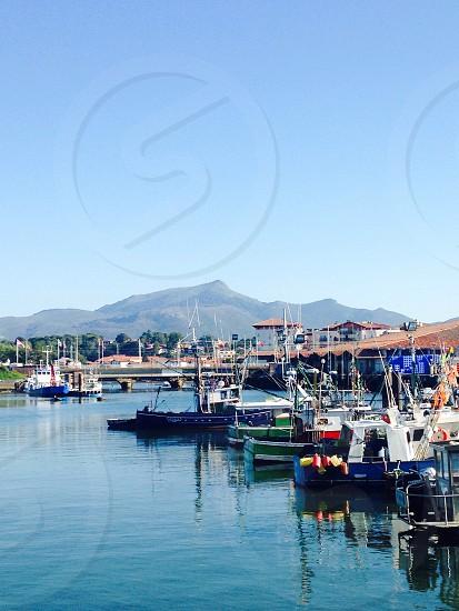 sail boat on docks photo