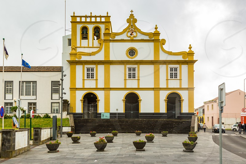 Church in Ribeira Grande on Sao Miguel Island archipelago of the Azores in the Atlantic Ocean belonging to Portugal photo