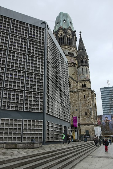 Kaiser Wilhelm Memorial Church seen from the Kurfürstendamm - Berlin photo