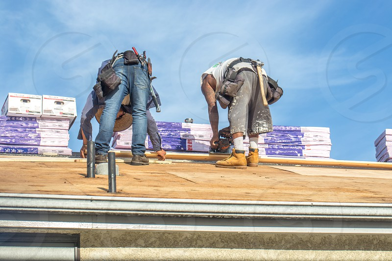 Roofers working photo