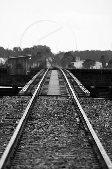 Neuse River train trestle in New Bern North Carolina.  photo