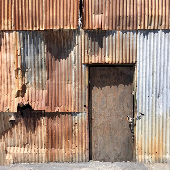 Corrugated wall rust photo