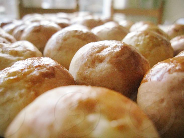 pane bread homemade party food panini mini round shape vintage '70s flour cucina kitchen italy italia photo