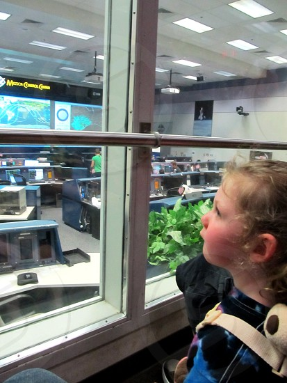 Child learning about space photo