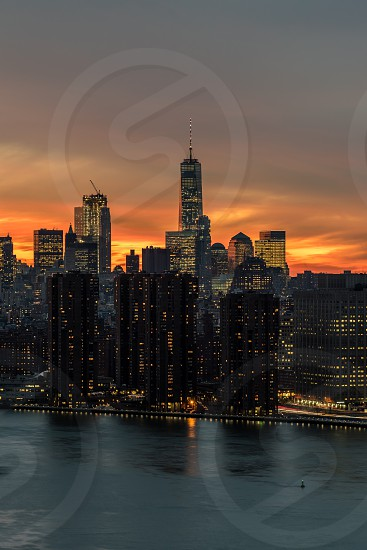 New York skyline cityscape photo