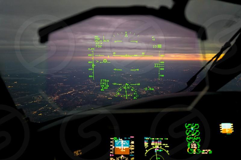 airplane control panel photo