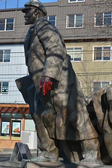Revolutionary dictator Lenin's statue stands in the Fremont District of Seattle. photo