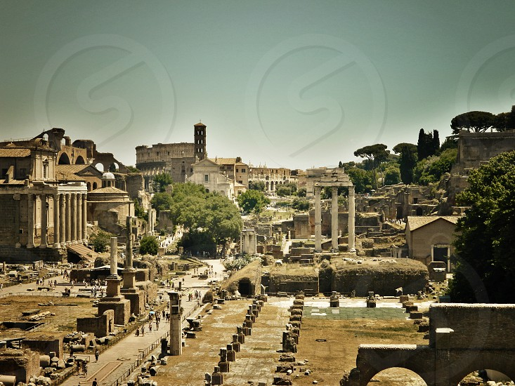 Rome city ruine history culture amazing Italy  photo