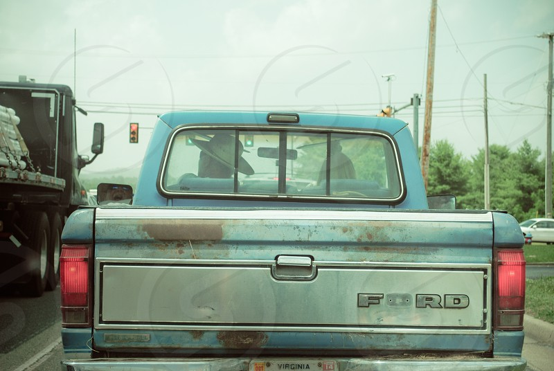 A guy. His girl. A good hat and his truck. What else does he need? Galax Virginia photo