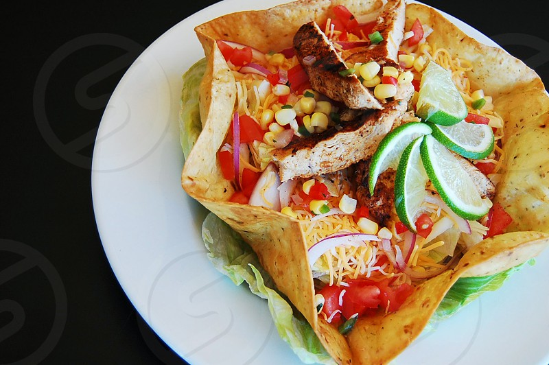 Chicken Taco Salad. Ready to eat!  photo