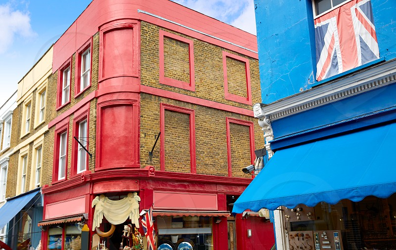 London Portobello road Market in UK England photo