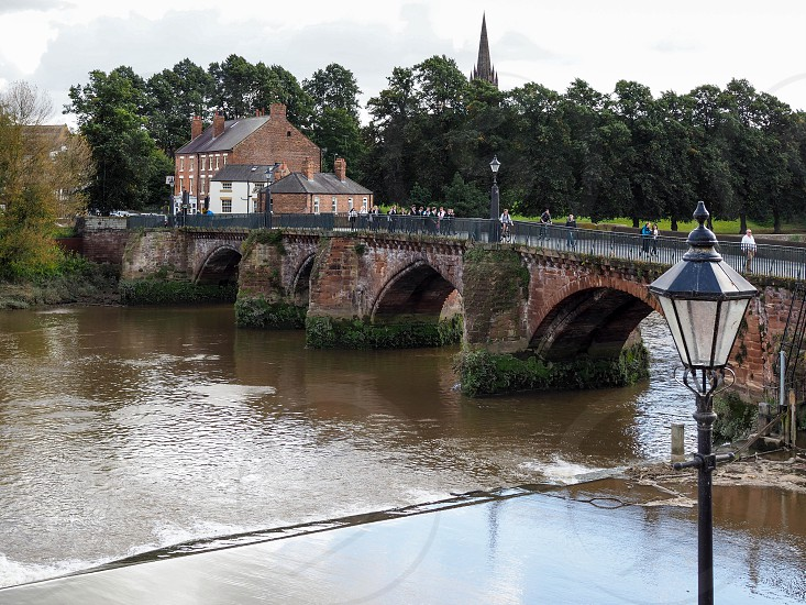 Bridge over the River Dee at Chester photo