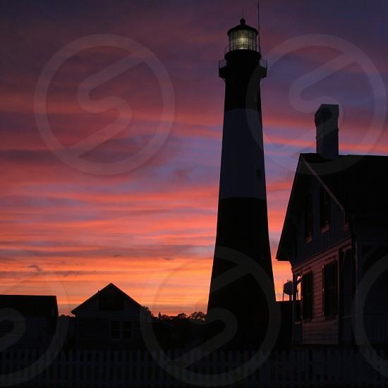 Tybee Lighthouse at Sunset photo